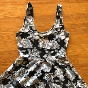 Urban Outfitters Sleeveless Black & Gray Dress
